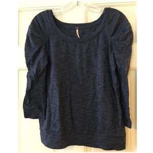 💜MUST GO💜 Free People Puffed Ruched Sleeve Top S